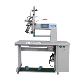 PTFE tape sealing machine for filter bag head and bottom贴膜机